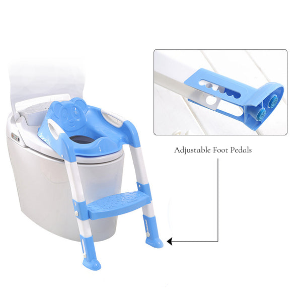 Potty Training Toilet Seat With Adjustable Ladder