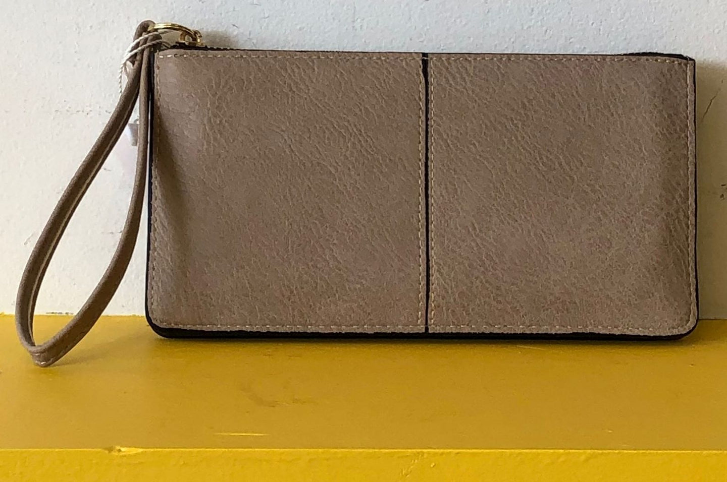 Wallet Clutch Purse Taupe