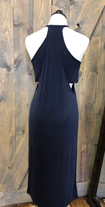 Navy Cutout Dress