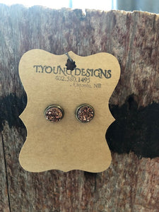 T Young Rose Gold Earrings