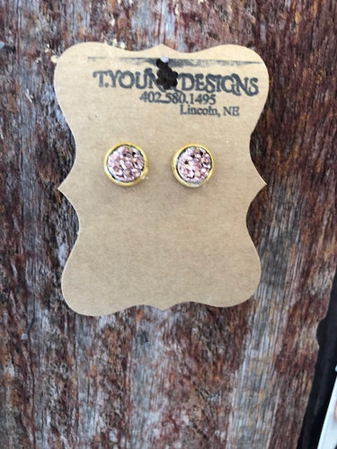 T Young Rose Gold/Gold Earrings