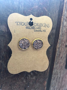 T Young Rose Gold/Gold Medium Earrings