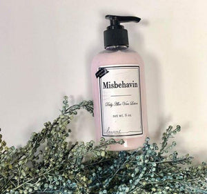 Misbehavin lotion by Lavare'