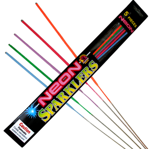 "17"" Neon Sparklers - 100 Pieces CLOSEOUT!"