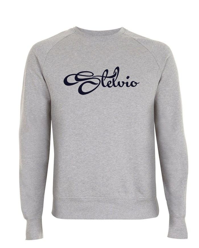 Classic Light Grey Stelvio Sweatshirt with Navy Logo