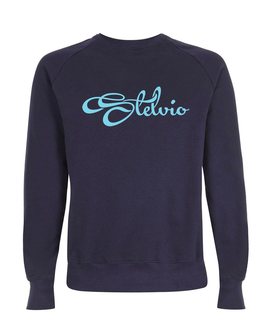 Classic Navy Stelvio Sweatshirt with Bright Blue Logo