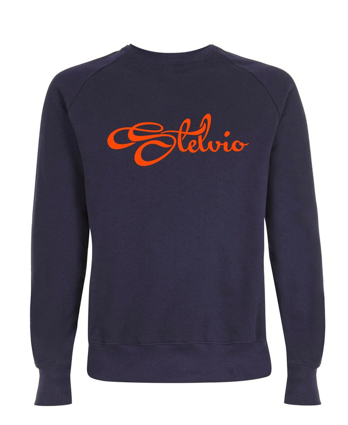 Classic Navy Stelvio Sweatshirt with Orange Logo