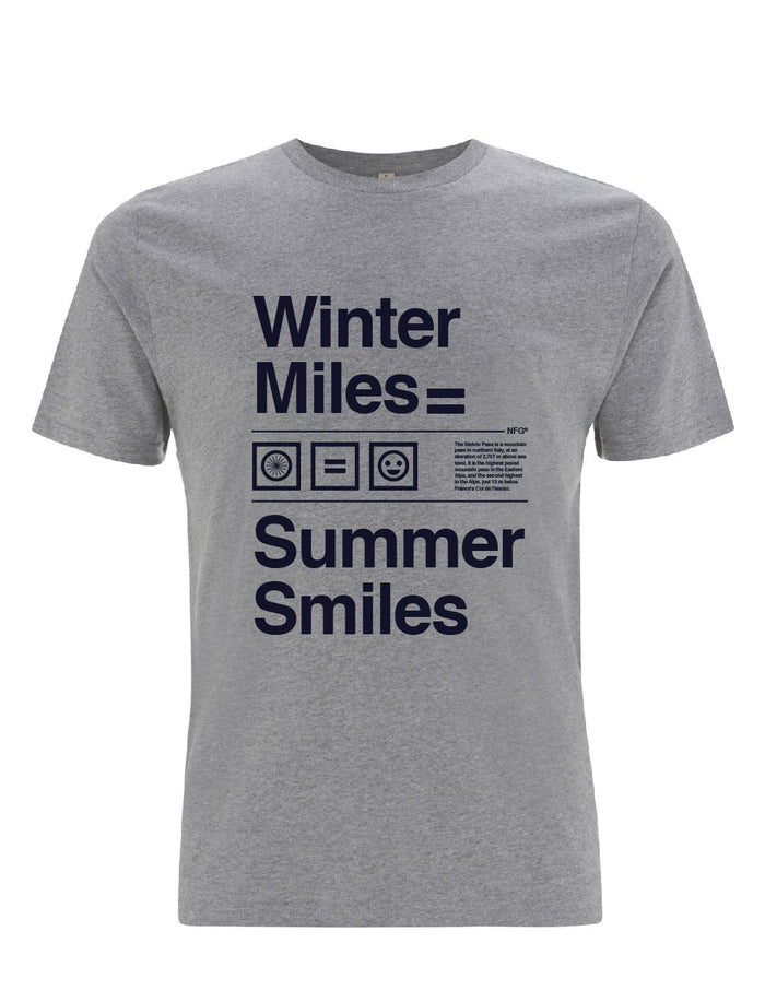 First edition Stelvio T-Shirt Grey - Winter Miles = Summer Smiles