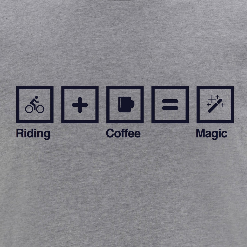 First edition Stelvio T-Shirt Grey - Riding + Coffee = Magic