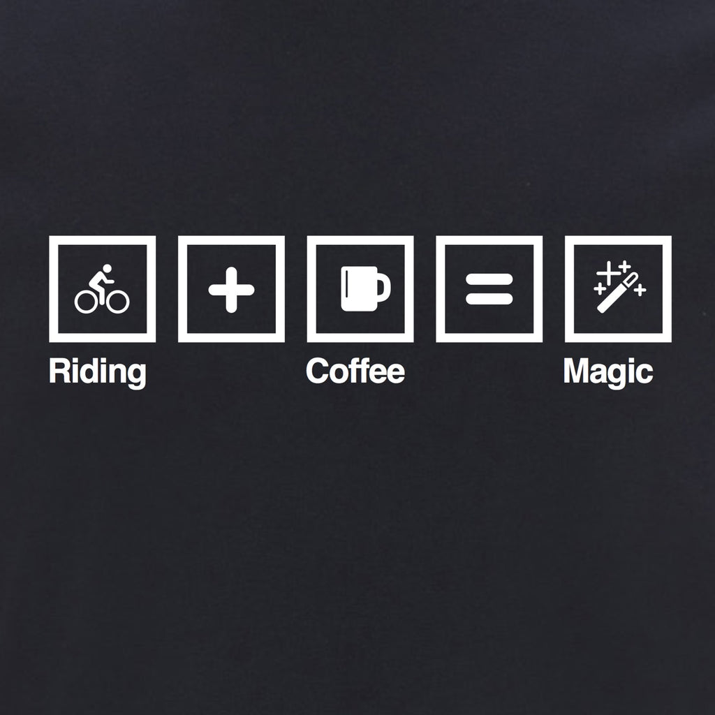 First edition Stelvio T-Shirt Navy - Riding + Coffee = Magic