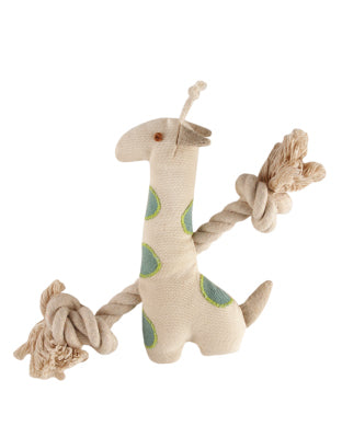 Natural pet toy giraffe