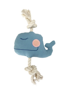 Natural pet toy whale