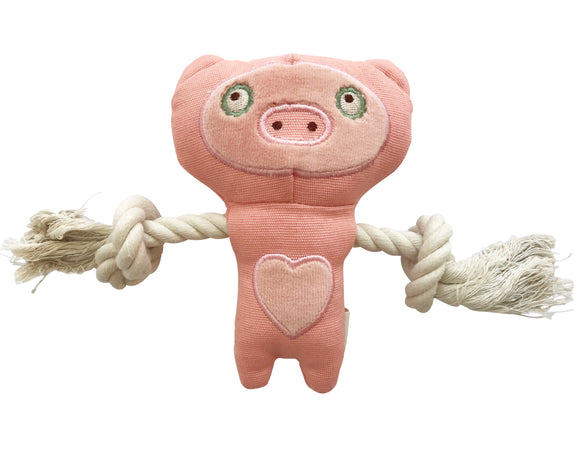 Natural pet toy pig