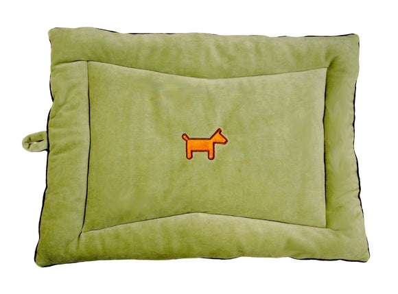 Natural pet mat green