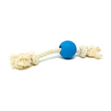 Natural rubber ball and rope