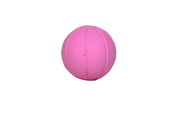 Natural rubber ball pink