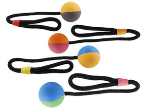Natural Rubber Multi-color Ball with Rope (2 sizes)