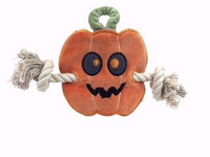 Natural pet toy halloween pumpkin