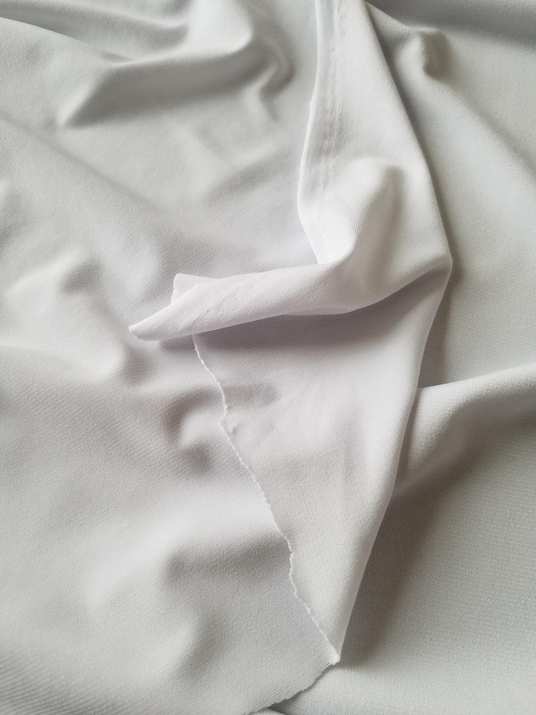 White ITY Knit (Lighter Weight Slip/Lining) Fabric {by the half yard}