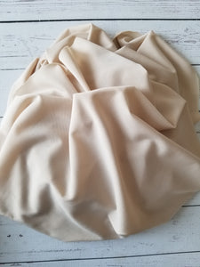 Tan/Nude ITY Knit (Lighter Weight Slip/Lining Fabric) {by the half yard}