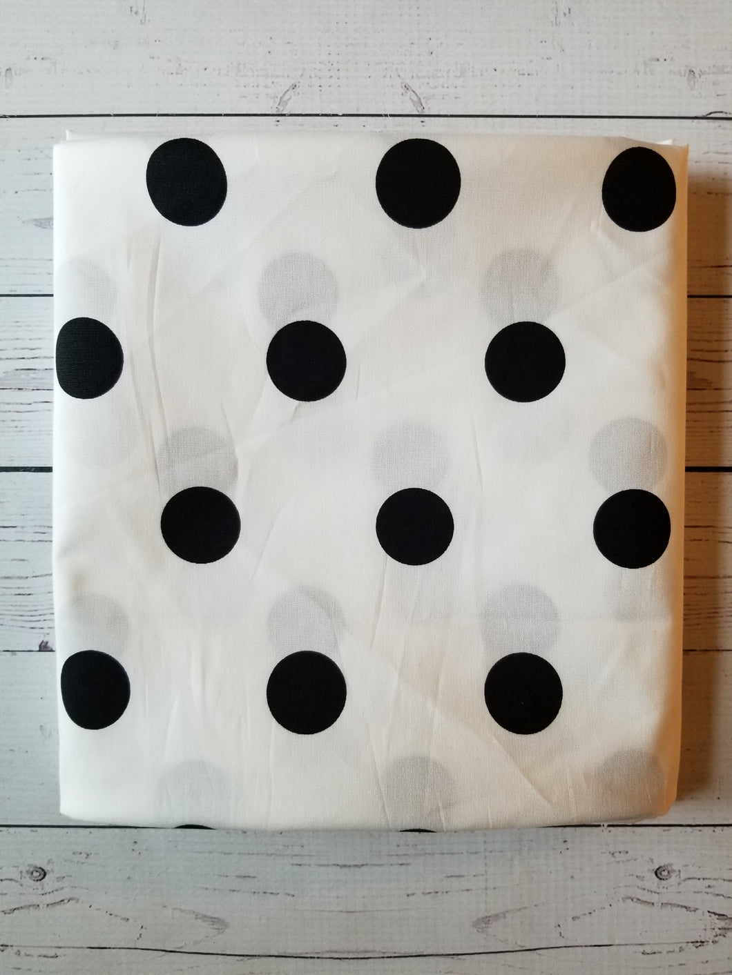 White & Black Polka Dots Stretch Cotton Poplin {by the half yard}