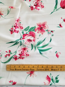 Cream & Pink Floral {by the half yard}
