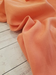 Solid Coral Textured Polyester {by the half yard}