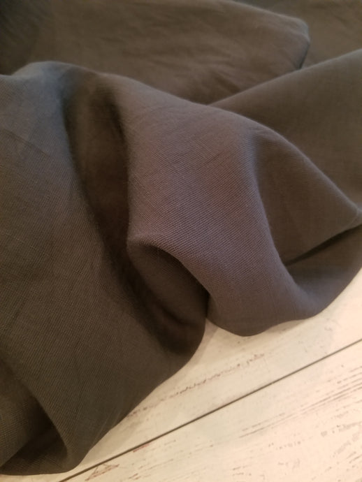 Solid Charcoal Textured Polyester {by the half yard}