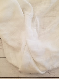White Plaid Rayon Challis {by the half yard}