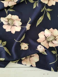 Navy & Pink Floral {by the half yard}