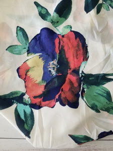 Bold Floral on White {by the half yard}