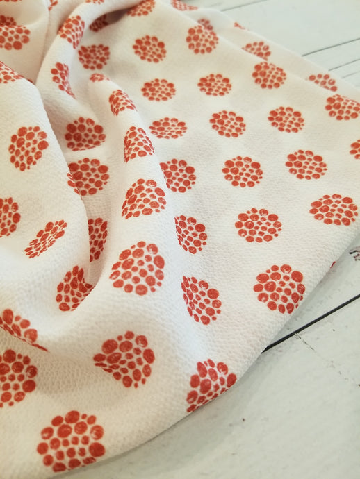 Exclusive Design- White & Red Dots {by the half yard}