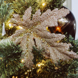 Giftcraft Glitter Leaf Ornament