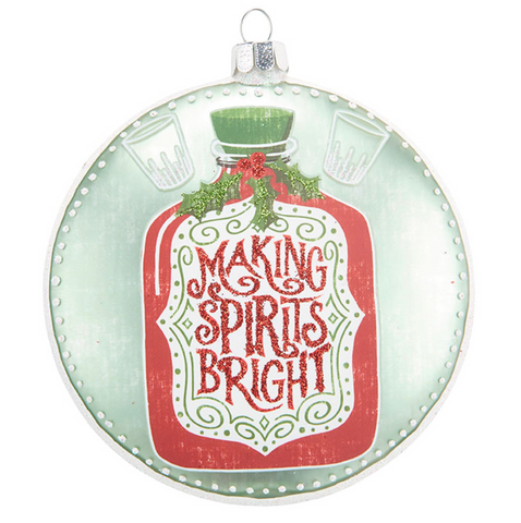 RAZ Making Spirits Bright Ornament