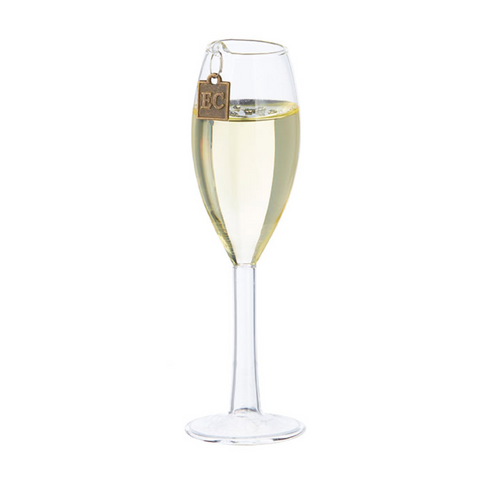 RAZ Champagne Glass Ornament