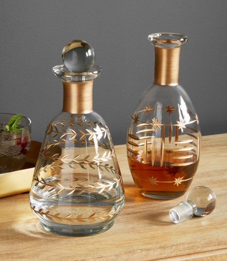Mudpie Star Patterned Decanter