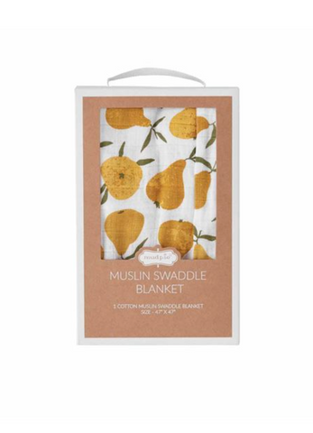 Mudpie Pear Swaddle Blanket
