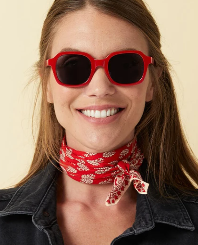 Peepers Jet Set Red Sunglasses