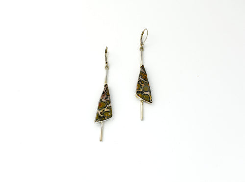 Sterling Silver Spotted Jasper Earrings