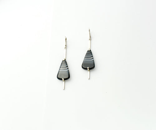 Sterling Silver Agate Earrings