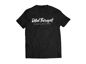 Retail Therapist Business Code Tee