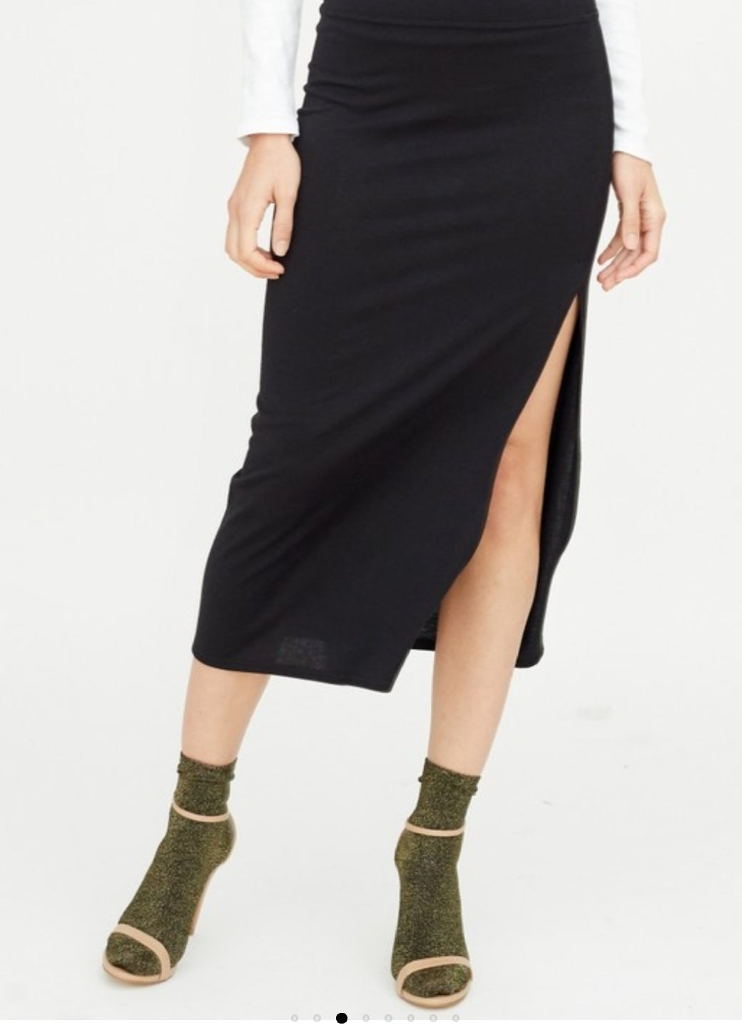 Miss Petty's High Slit Midi Skirt