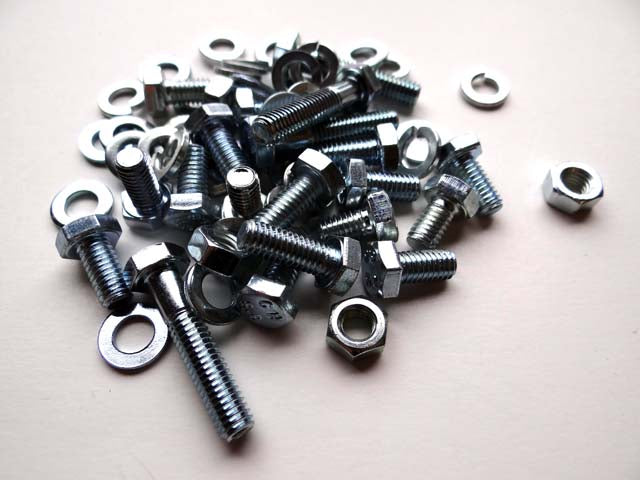INTERIOR DOOR FRAME BOLT/WASHER SET - complete (68 pieces)- BM10
