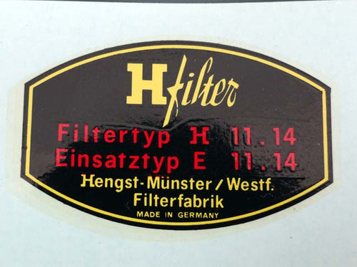 DECAL - H-FILTER for oil filter - M515