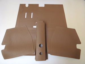 FLOOR MAT SET - TAN (front, rear, and tunnel) M82A