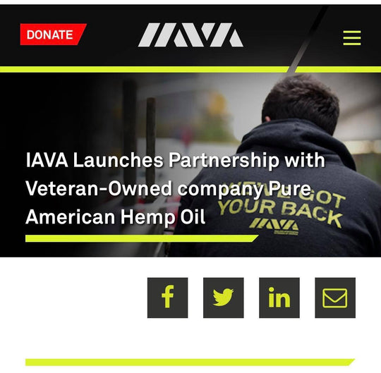 IAVA Launches Partnership with Veteran-Owned company Pure American Hemp Oil