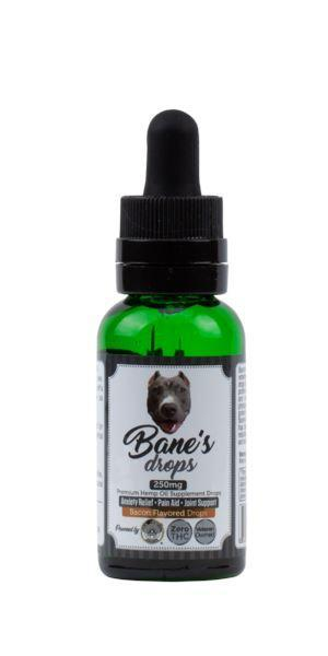 Bane's Drops - 250mg Premium Hemp Oil Supplement Drops + Organic MCT (1 oz / 30ml Bacon Flavored) PAHO, INC.