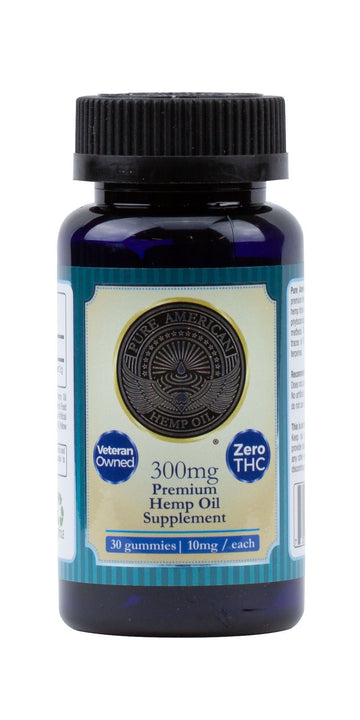 PAHO - 300mg Premium Hemp Oil Supplement (30 Gummies / 10mg Each) PAHO, INC.