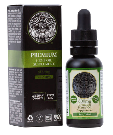 PAHO - 600mg Premium Hemp Oil Supplement + Organic MCT (1 oz / 30ml) PAHO, INC.
