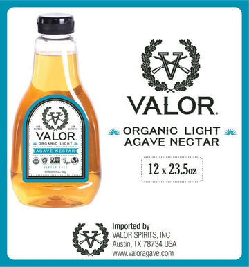 Valor Agave Organic Light Agave Nectar, 23.5 oz., 12 Count Valor Agave Valor Spirits, Inc.